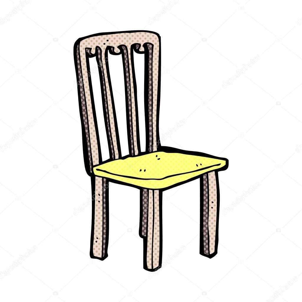 Comic Cartoon Old Chair Stock Vector C Lineartestpilot