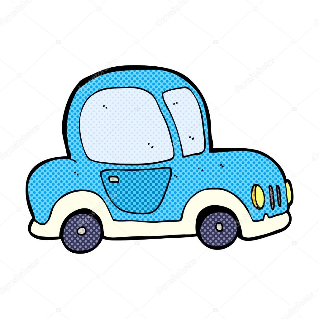 Komische Cartoon Auto Stockvektor Lineartestpilot 73753353