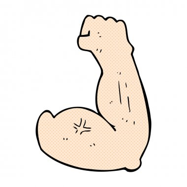 flexing bicep comic cartoon