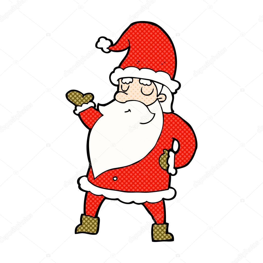 Comic Cartoon Weihnachtsmann Stockvektor Lineartestpilot