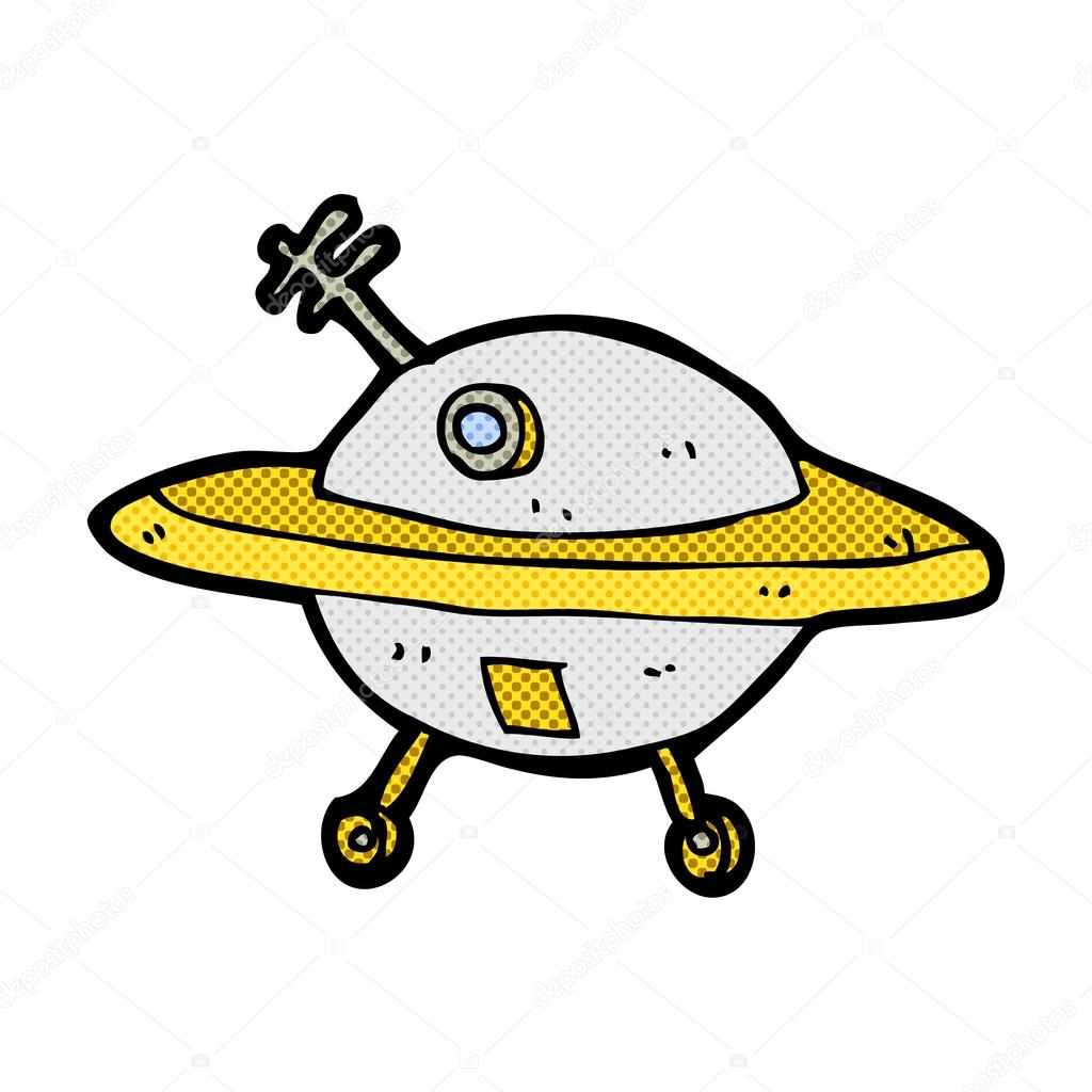 Soucoupe volante dessin anim comique image vectorielle - Soucoupe volante dessin ...