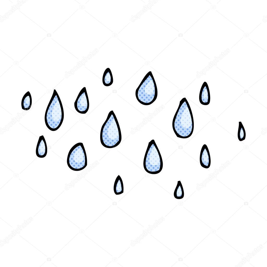 comic cartoon raindrops stock vector lineartestpilot 74315885 rh depositphotos com pics of cartoon raindrops master raindrops cartoon