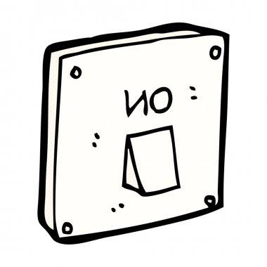 comic cartoon light switch