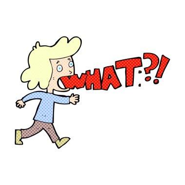 comic cartoon woman shouting what