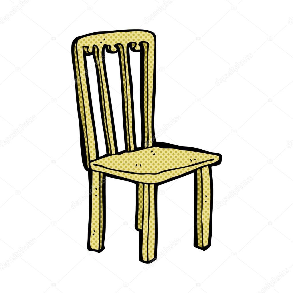 vieille chaise dessin animé comique — Image vectorielle