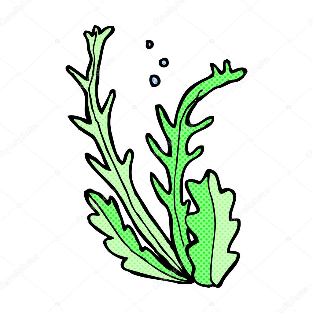 comic cartoon seaweed stock vector lineartestpilot 74324933 rh depositphotos com seaweed ai vector seaweed vector images