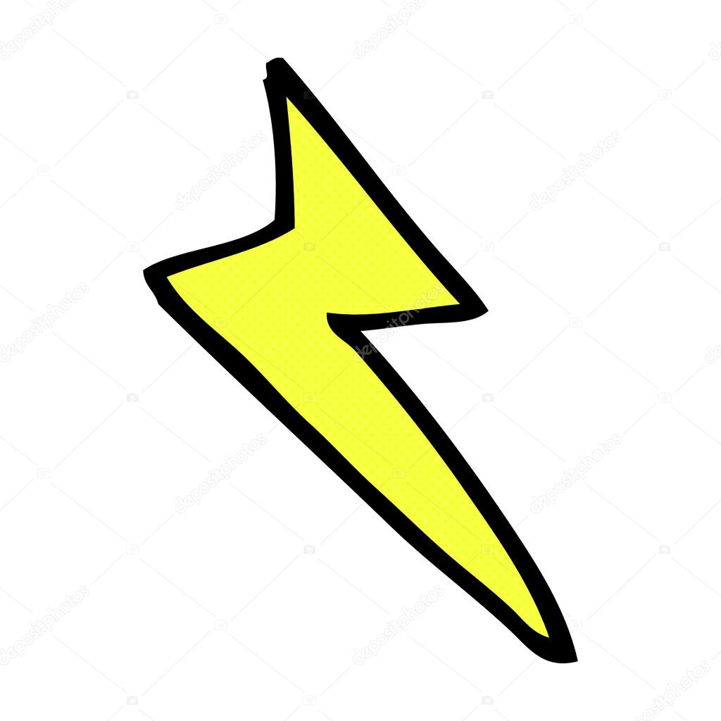 Comic cartoon lightning bolt symbol stock vector lineartestpilot comic cartoon lightning bolt symbol stock vector buycottarizona Image collections