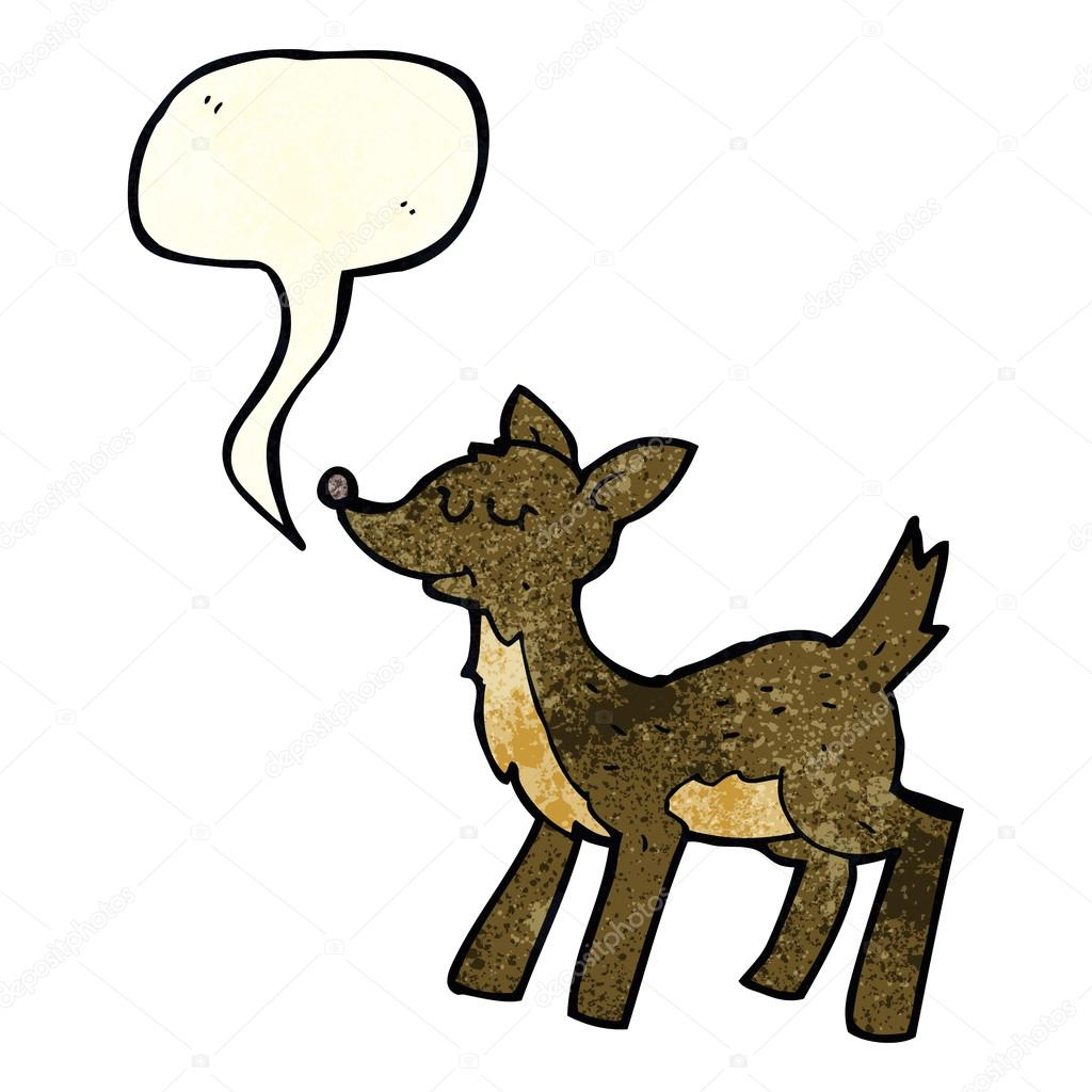 Cute Cartoon Deer With Speech Bubble Stock Vector