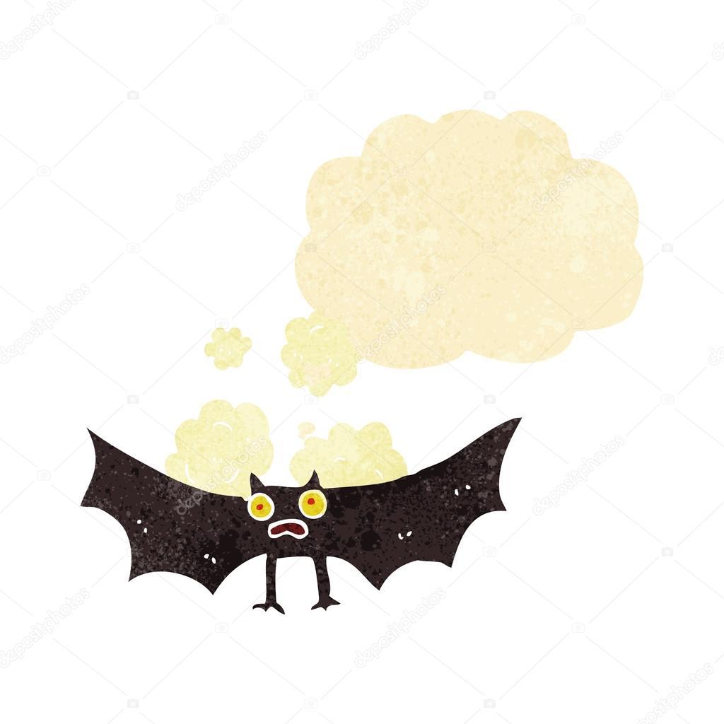 Cartone animato di pipistrello volare premium clipart