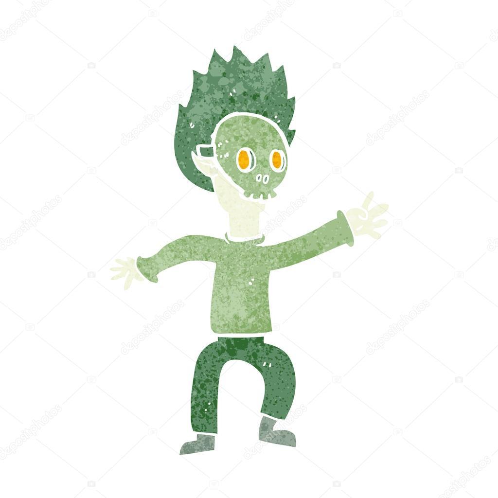 Cartoon boy in halloween mask — Stock Vector © lineartestpilot ...