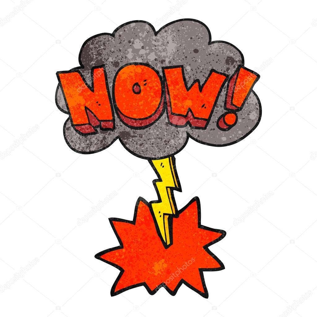 Texture cartoon now symbol with thundercloud stock vector freehand drawn texture cartoon now shout symbol with thundercloud vector by lineartestpilot biocorpaavc