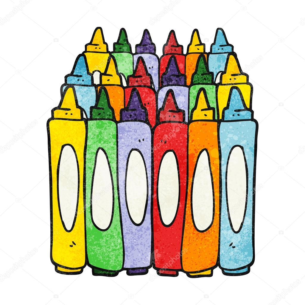 texture cartoon crayons stock vector 96116786 - Cartoon Pictures Of Crayons