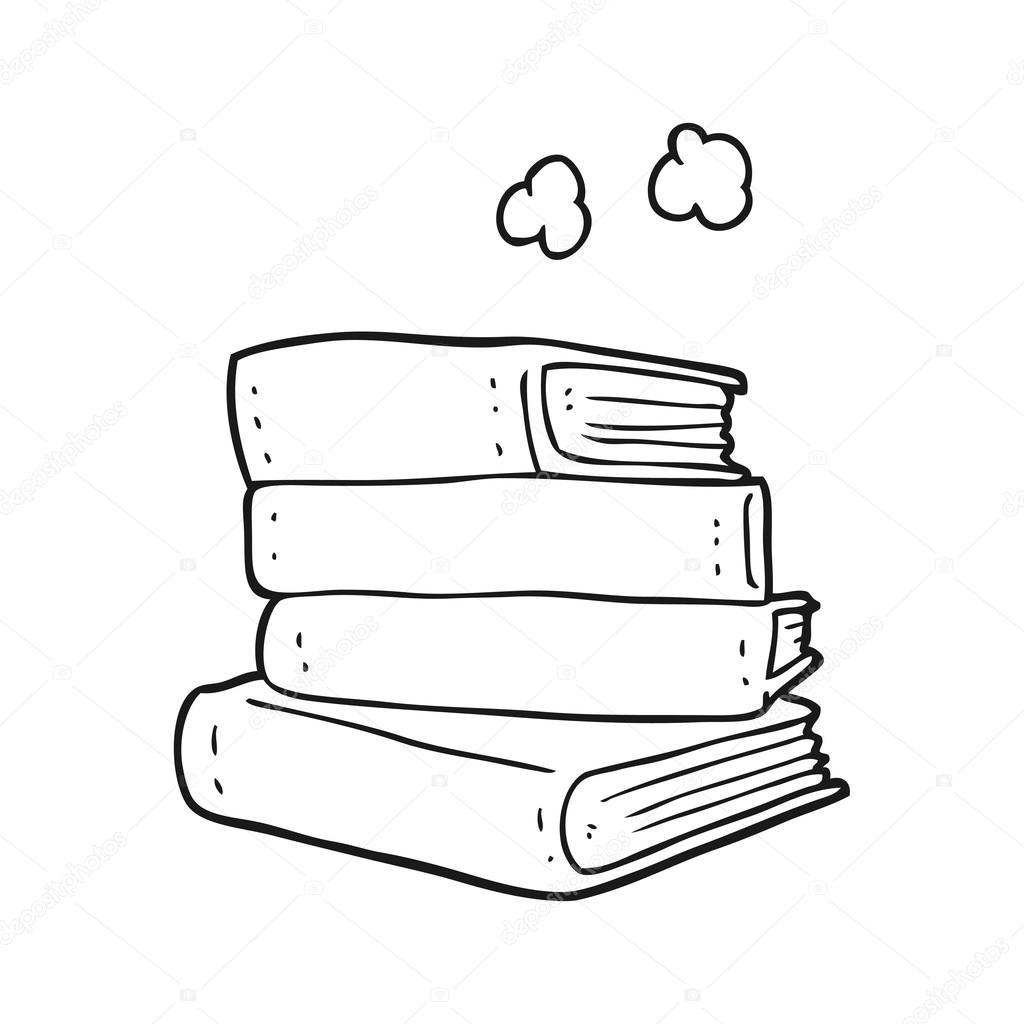 Картинки книг черно белые