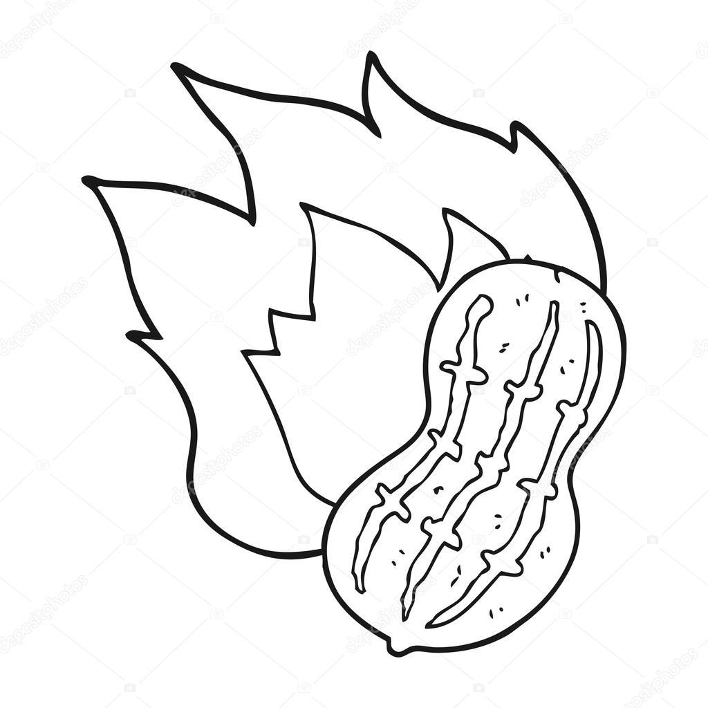 Preto E Branco Dos Desenhos Animados De Amendoim De Cozinha  ~ Desenhos Para Colorir Cozinha