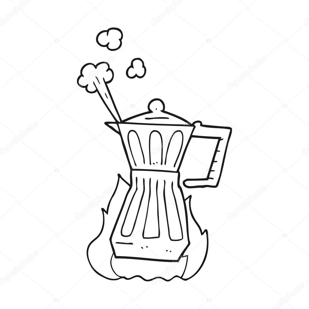 Animado Zapatero Para Colorear Hornalla Cafetera De Dibujos