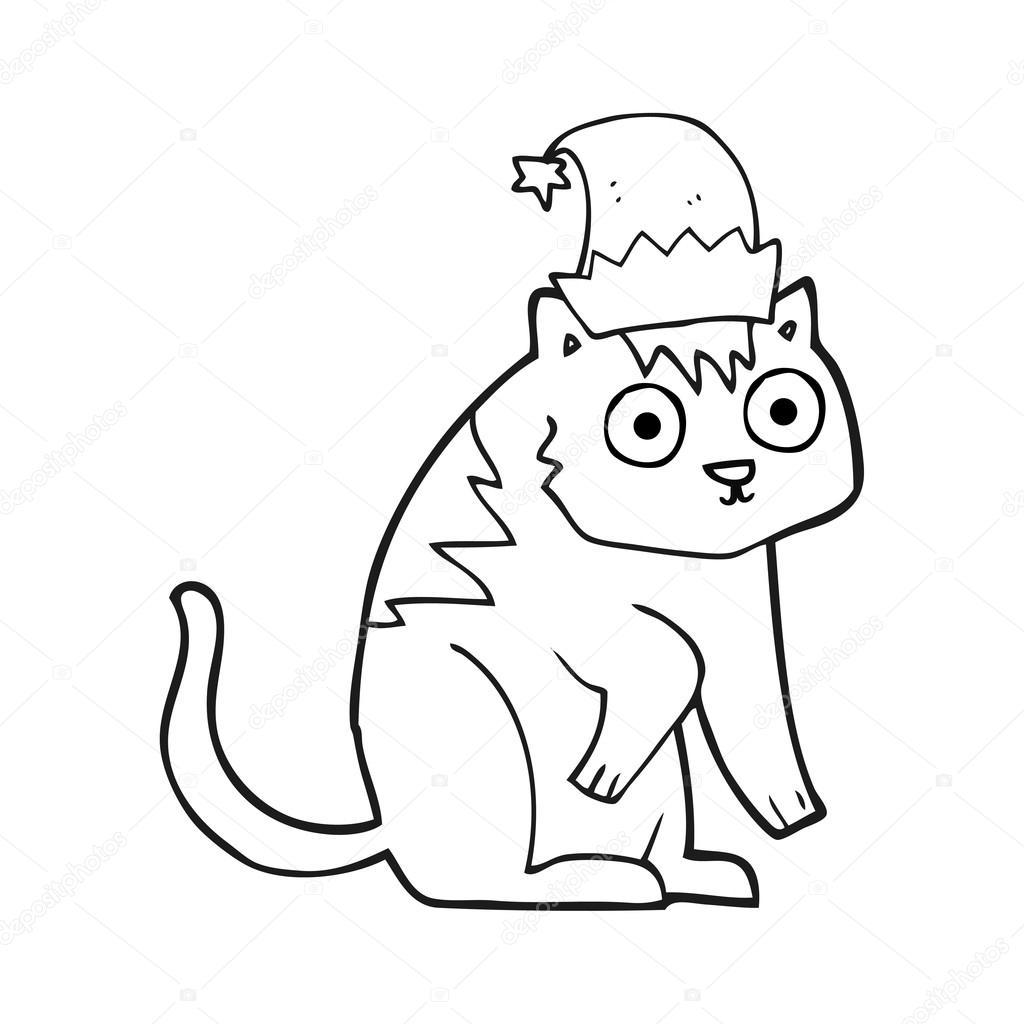 Dibujos Para Colorear Gato Ensombrerado Dibujos Animados