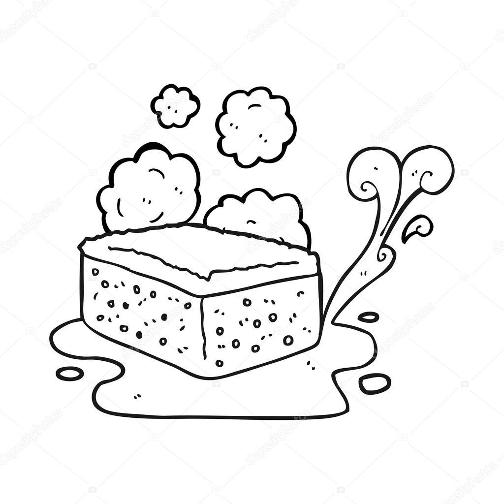 Ponge de dessin anim noir et blanc image vectorielle lineartestpilot 96246124 - Dessin eponge ...