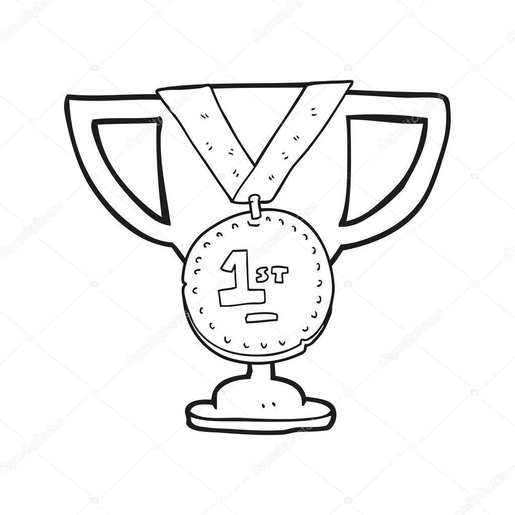 troph 233 e sportif caricature noir et blanc image