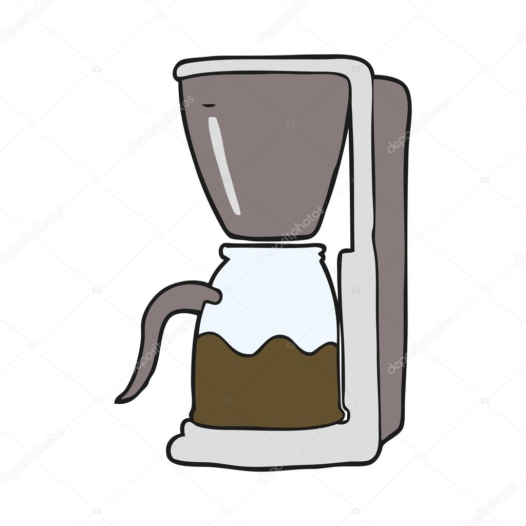 Cartoon Coffee Maker ~ Kreslený kávovar — stock vektor lineartestpilot