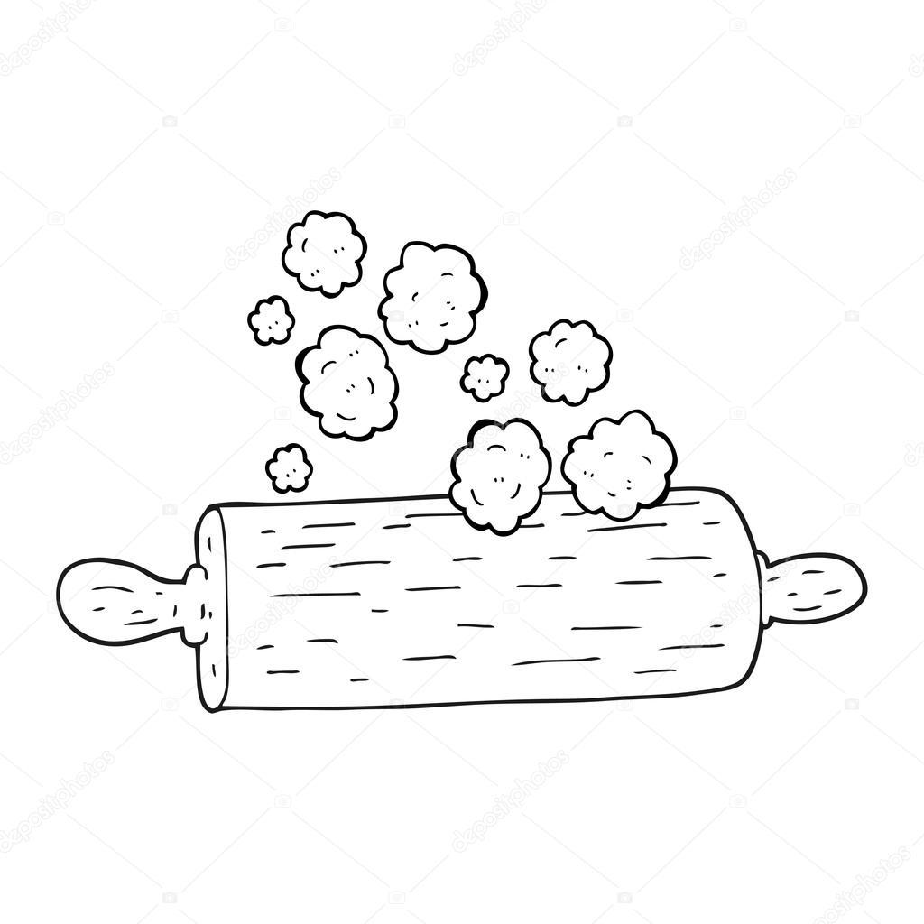 perno de balanceo de blanco y negro de dibujos animados — Vector de ...