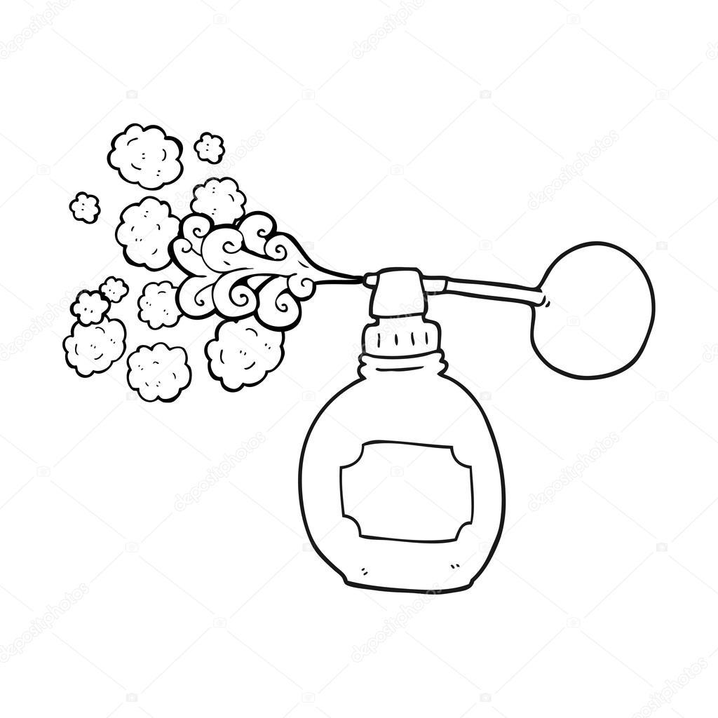 bouteille de parfum en noir et blanc dessin anim u00e9  u2014 image