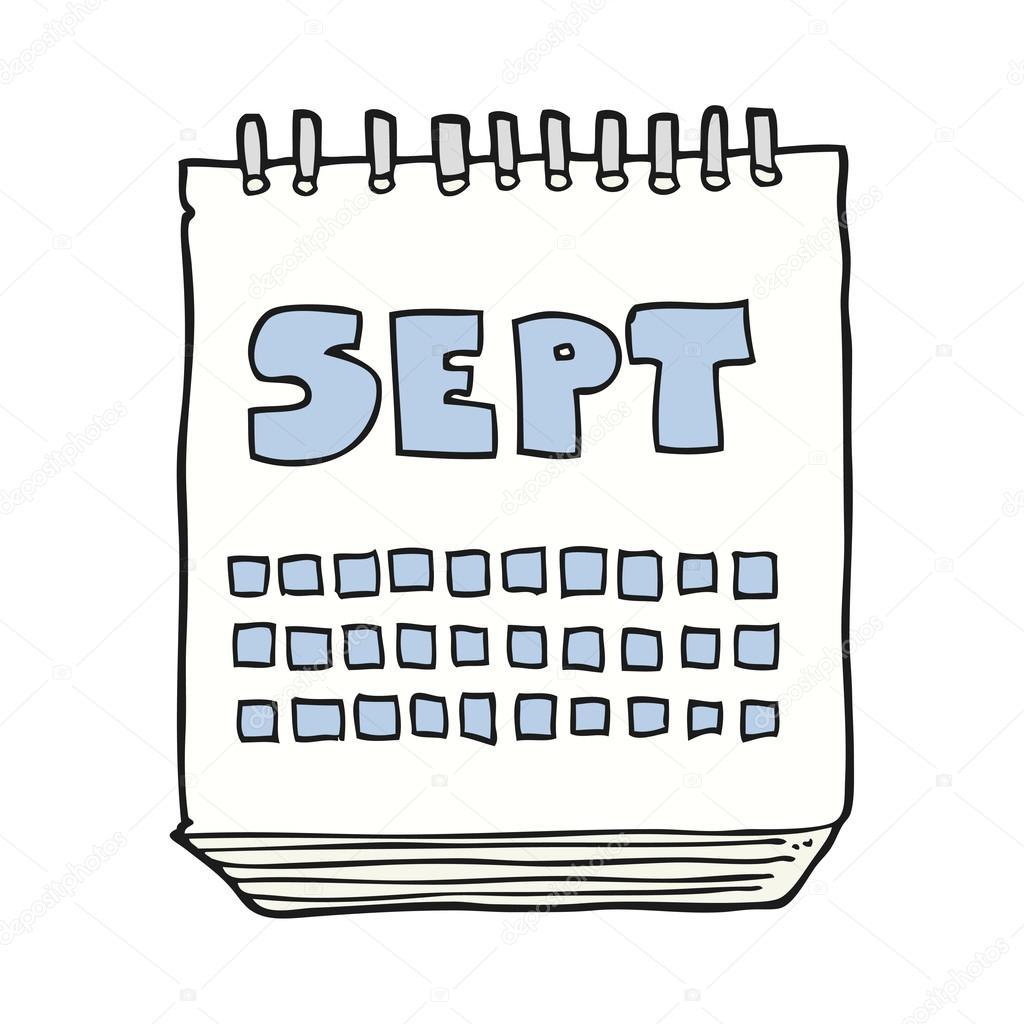 Calendario Dibujo Septiembre.Dibujos Septiembre Calendario De Dibujos Animados Que