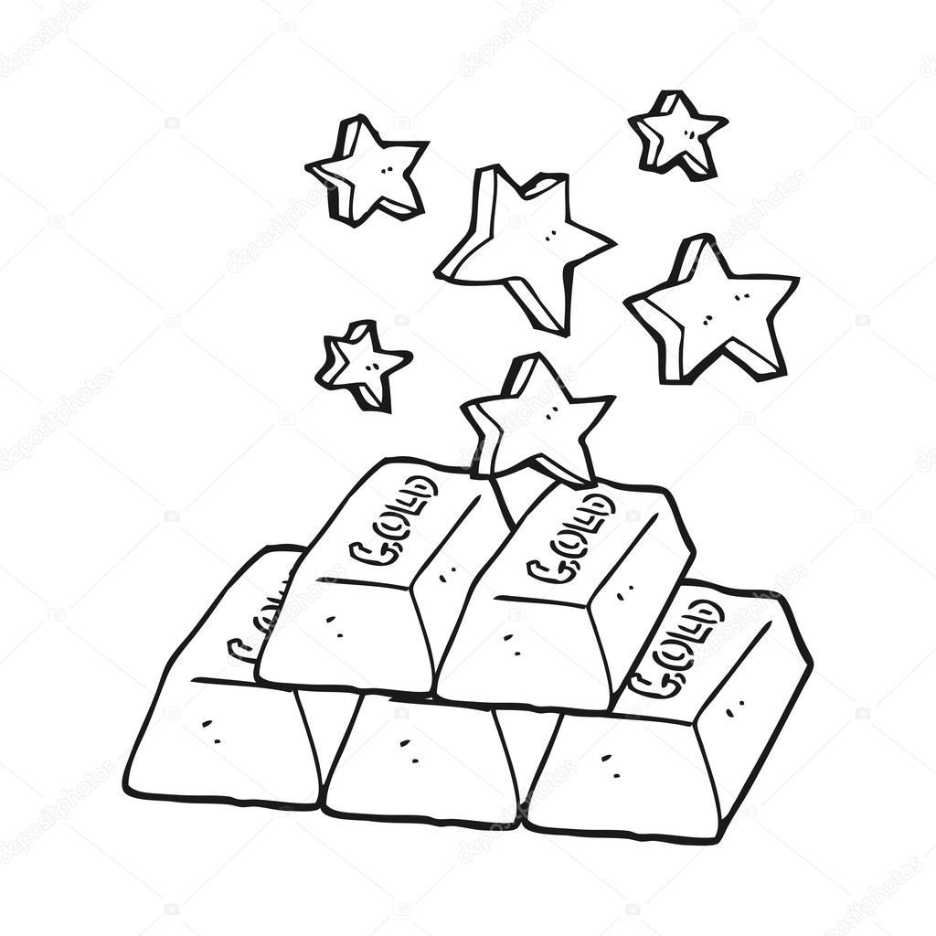 barras de blanco y negro de dibujos animados de oro — Vector de ...