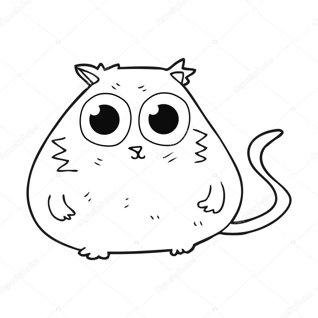 Bkalck And White Cat Cartoon