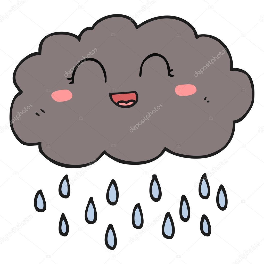 cartoon rain cloud stock vector lineartestpilot 96431146 rh depositphotos com cartoon rain cloud with lightning cartoon character rain cloud over head