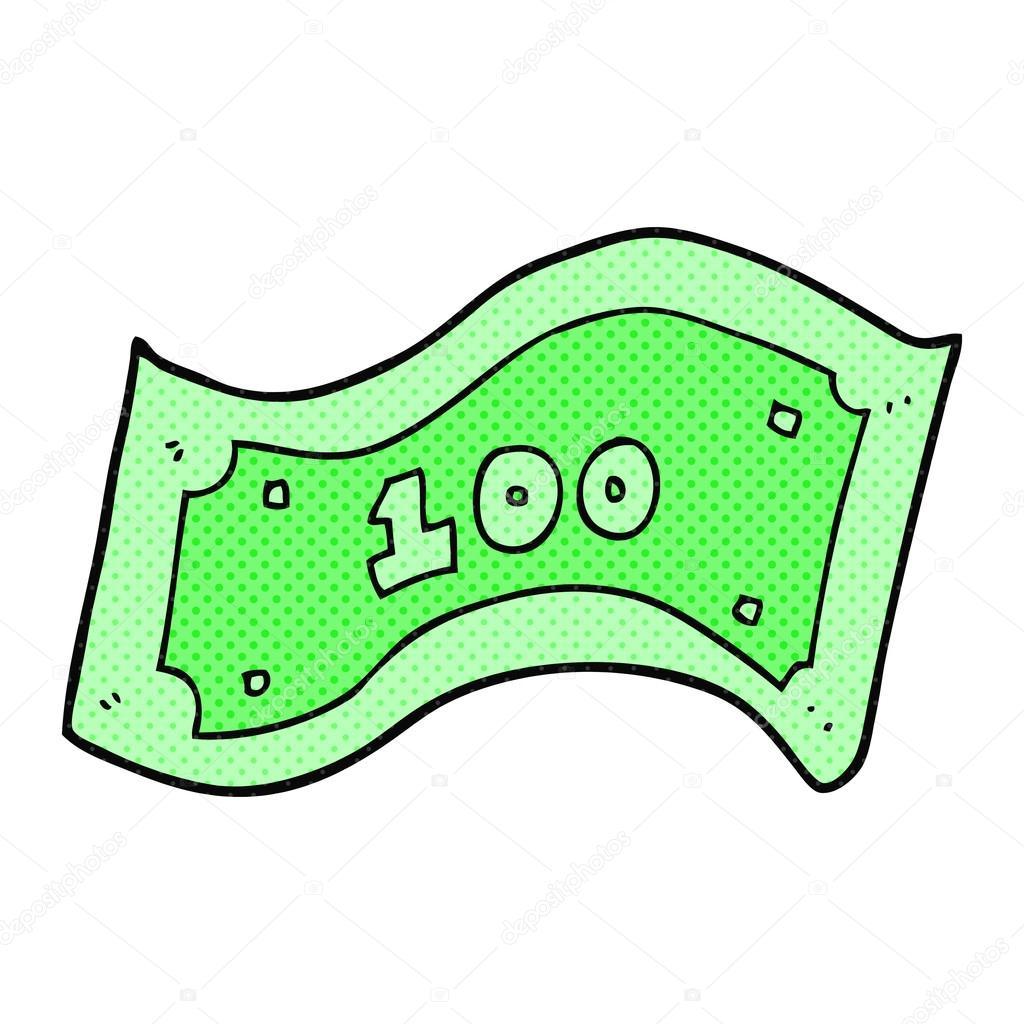 cartoon 100 dollar bill stock vector lineartestpilot 96439126 rh depositphotos com 100 dollar bill vector free