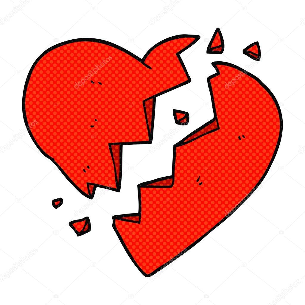 Dessin Anime Coeur Brise Image Vectorielle Lineartestpilot C 96444014