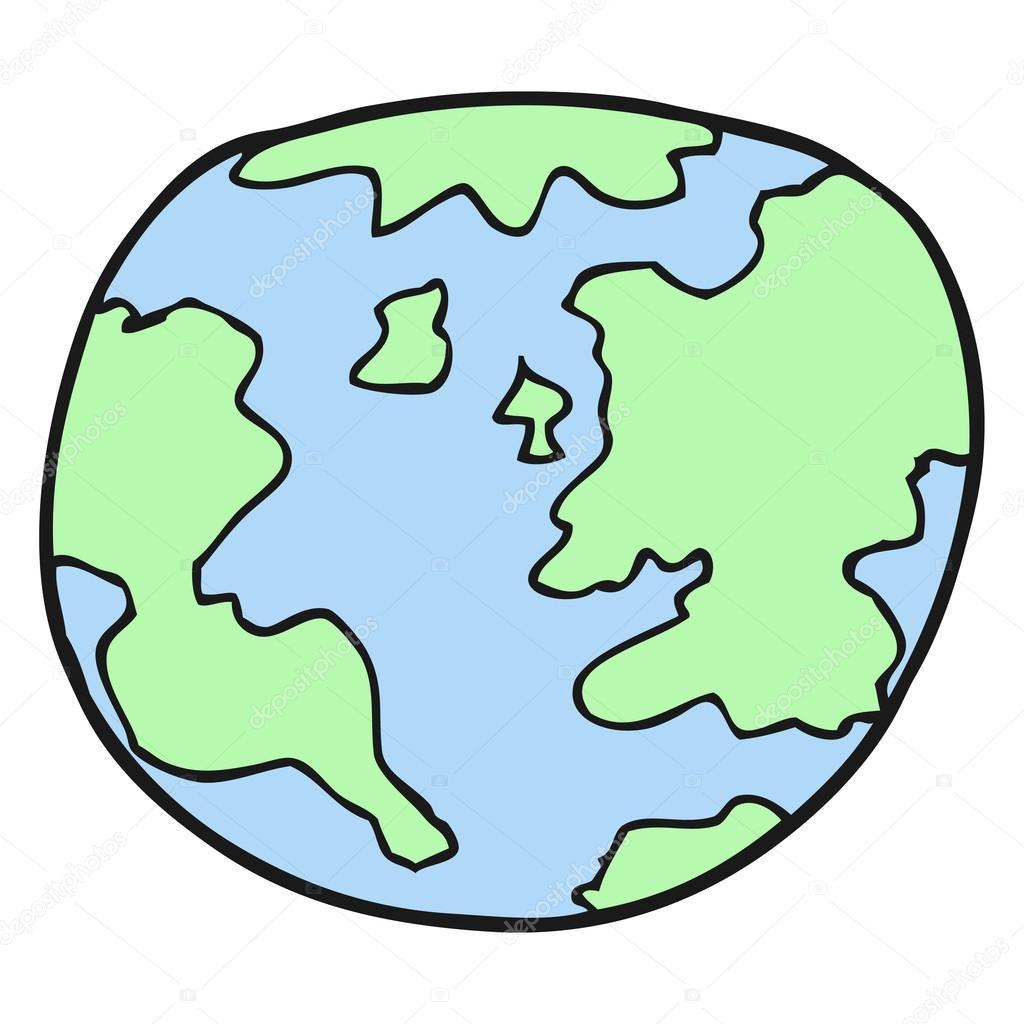 Dibujos Planeta Tierra Dibujo Dibujos Animados De Planeta Tierra