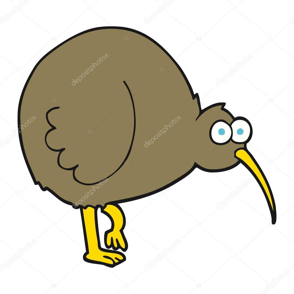 Cartone animato kiwi uccello — vettoriali stock