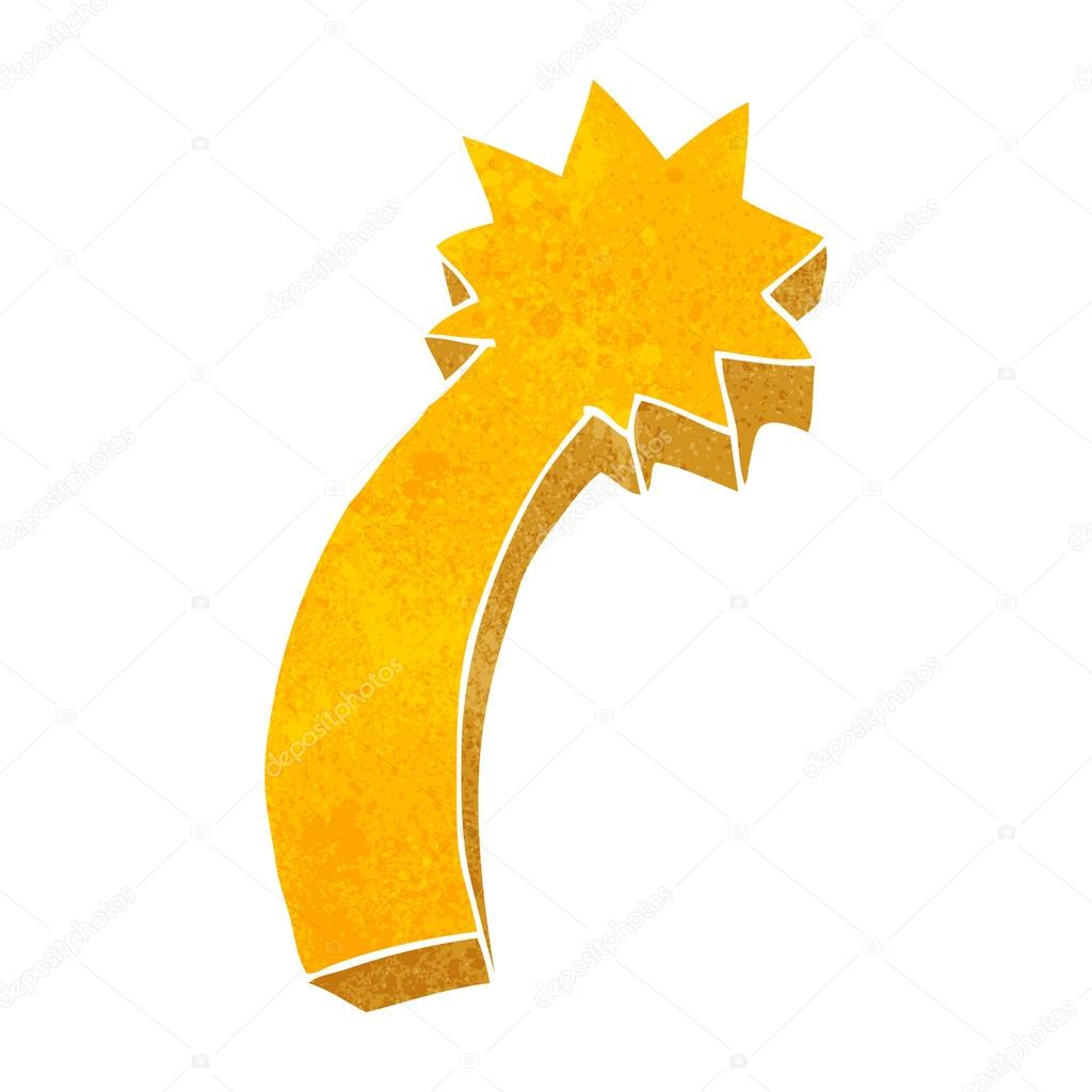 Retro Cartoon Shooting Star Symbol Stock Vector Lineartestpilot