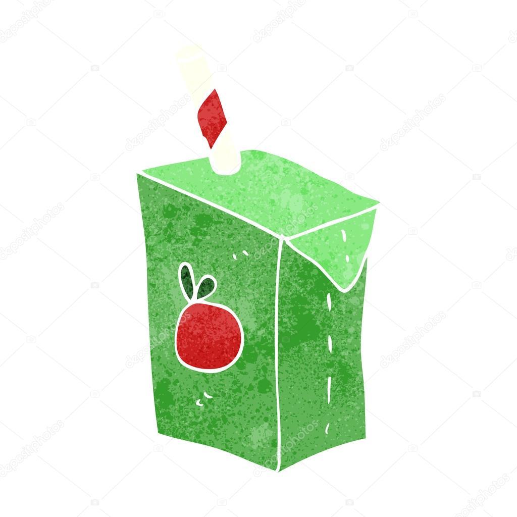 Succo di frutta retrò dei cartoni animati u2014 vettoriali stock