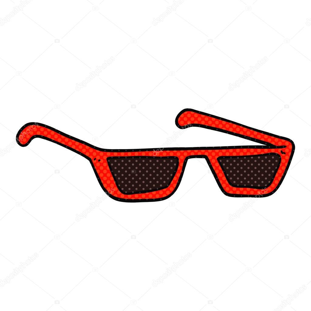 Dessin Lunettes De Soleil lunettes de soleil comics style dessin animé — image vectorielle