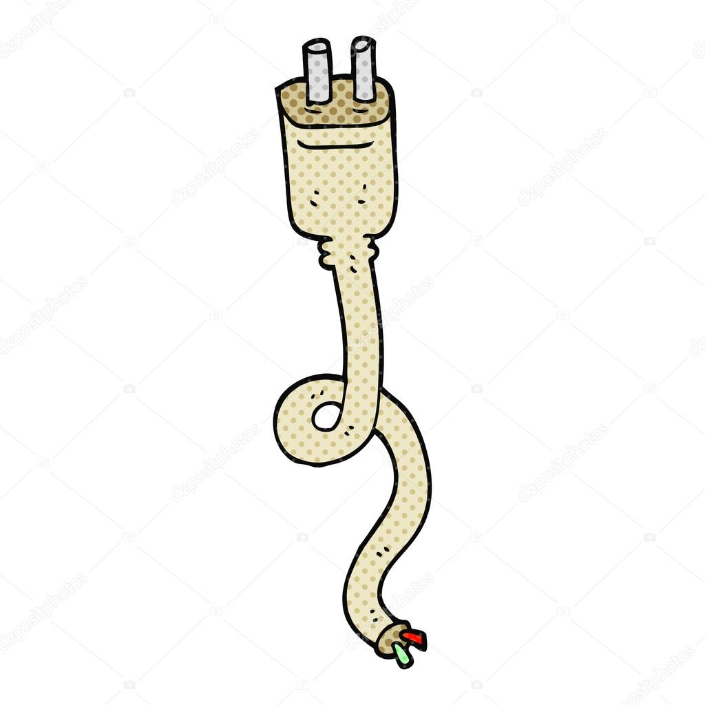 Cartoon macht Draht — Stockvektor © lineartestpilot #96686806