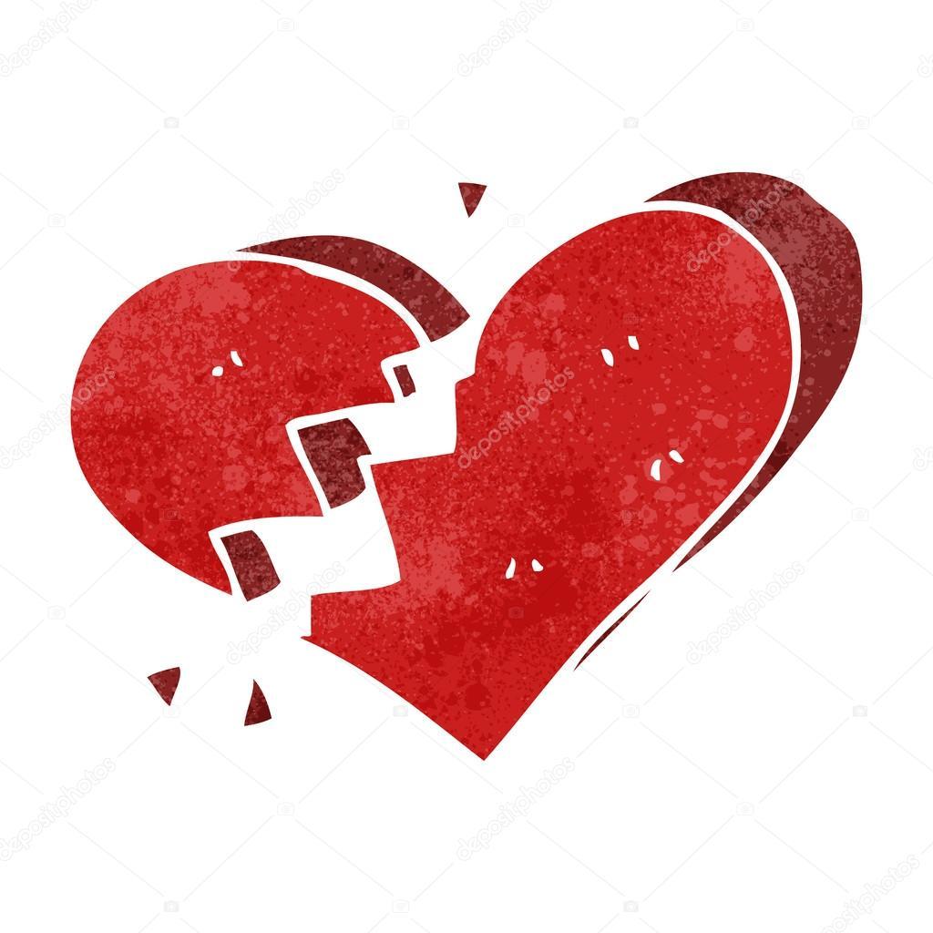 Dibujos Corazon Rotos Retro Dibujos Animados Corazón Roto