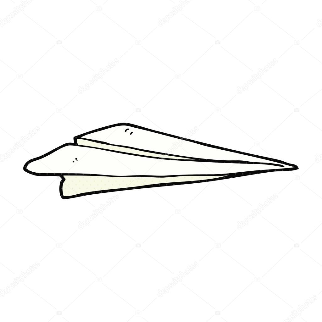 cartoon paper airplane stock vector lineartestpilot 96687252 rh depositphotos com paper airplane cartoon video Cartoon Throwing Paper Airplane Drawing