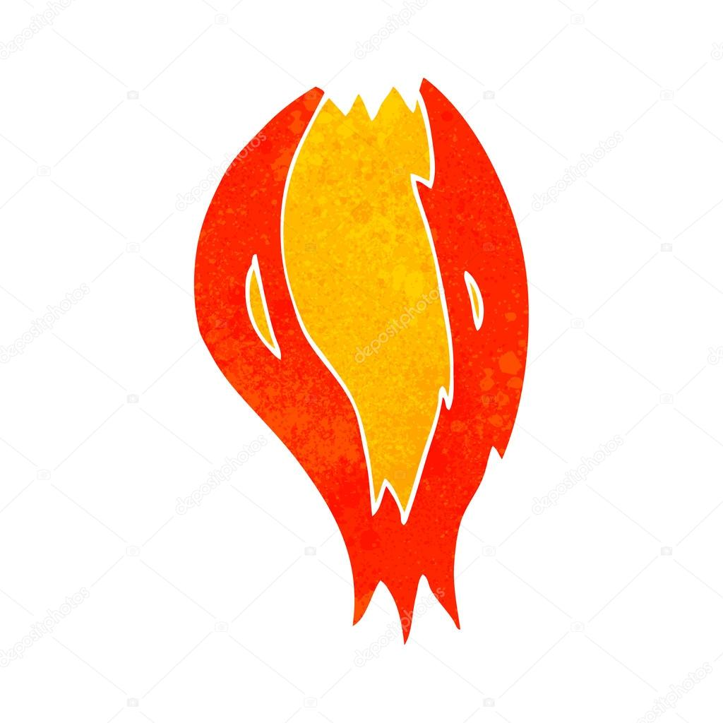 Dessin anim r tro fus e flammes image vectorielle lineartestpilot 96700922 - Dessin d une fusee ...