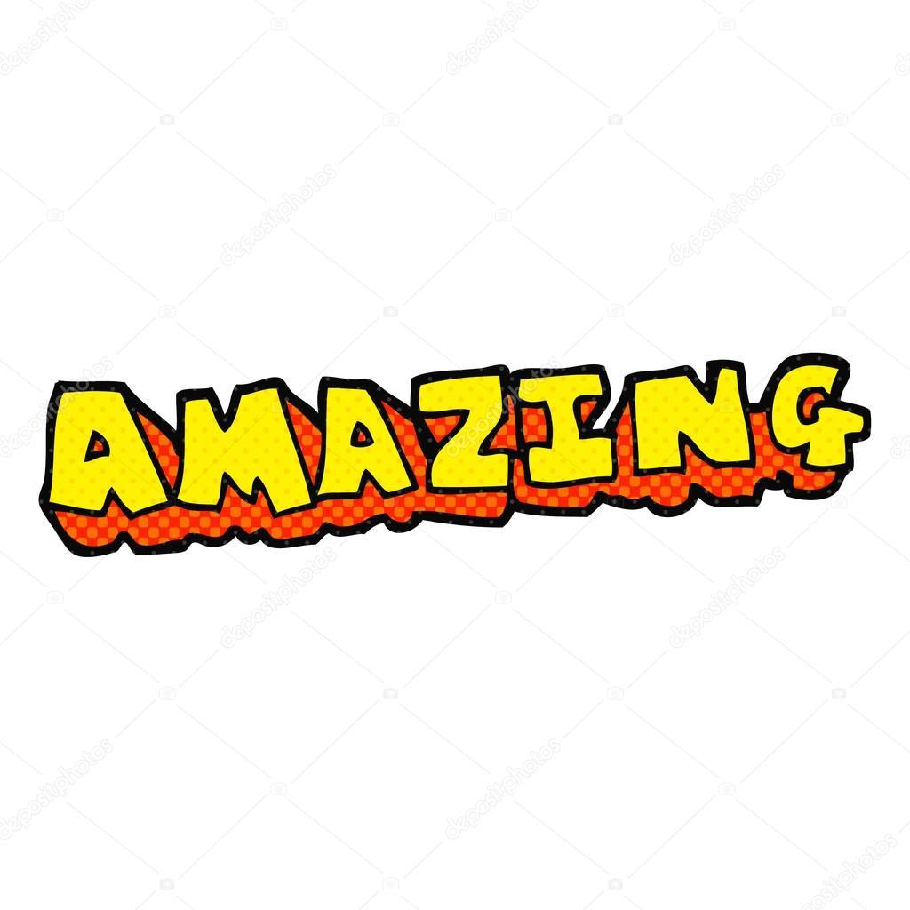 The Word Amazing: Stock Vector © Lineartestpilot