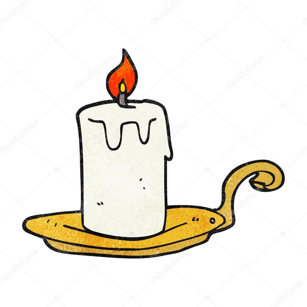 L mpara de la vela de dibujos animados con textura for Lamparas y plafones de pared