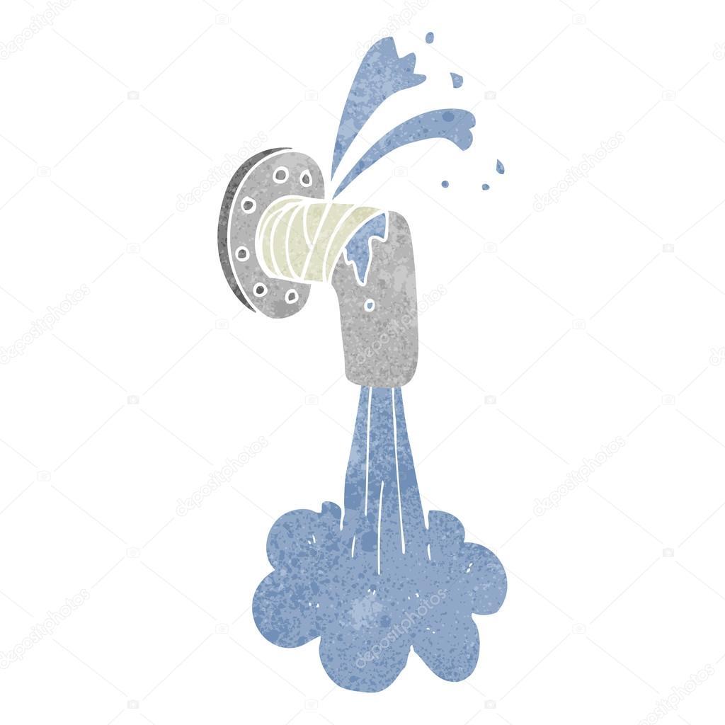 Tuber a con fugas dibujos animados retro archivo - Detectores de tuberias de agua ...