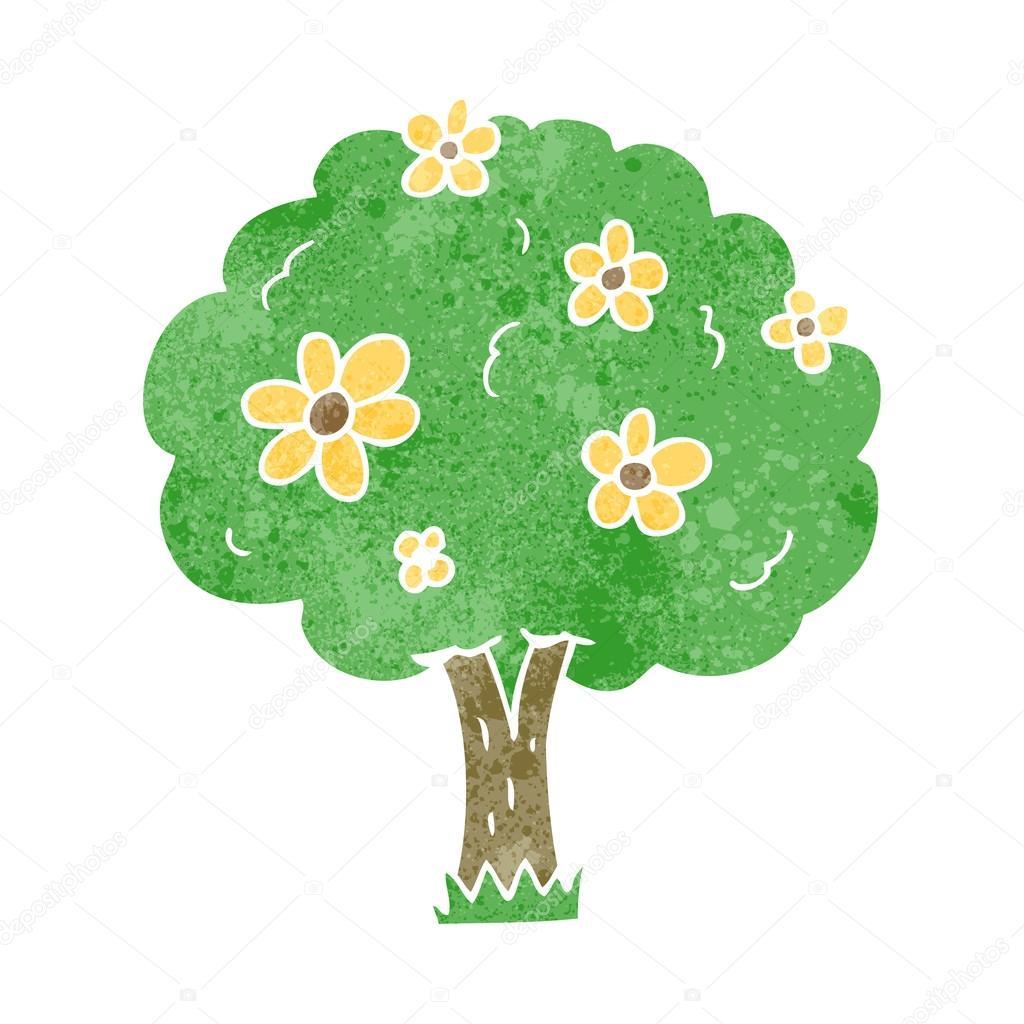 Dibujos Arboles Animados Bonitos árbol De Dibujos Animados Retro