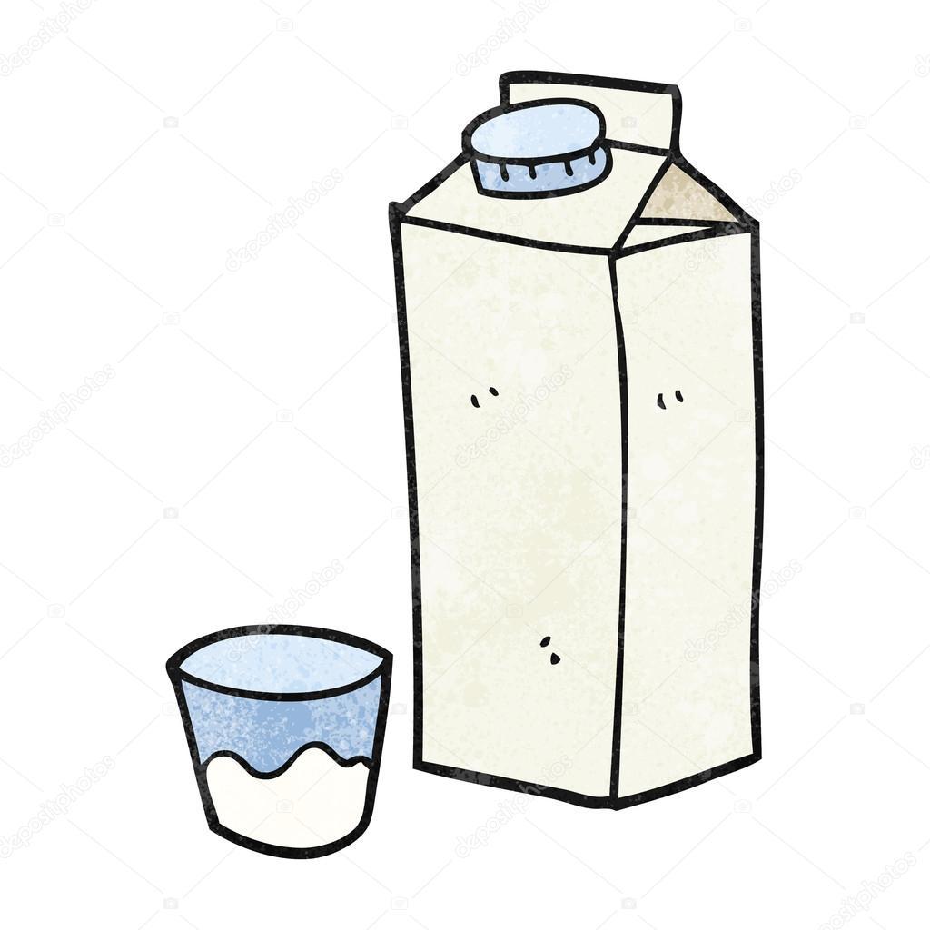 Textured Cartoon Milk Carton Stock Vector C Lineartestpilot