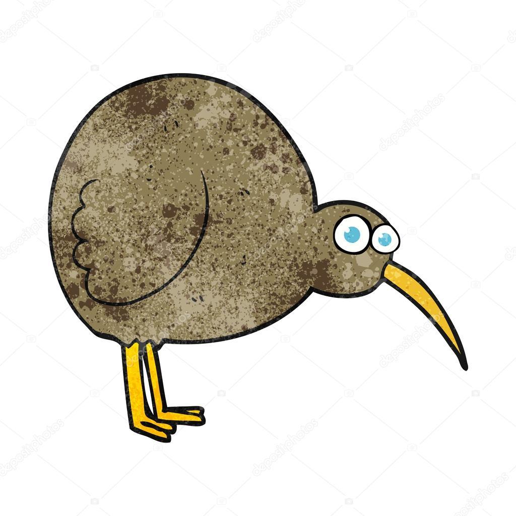 Animado Kiwi Animal Dibujos Animados Textura Kiwi Ave Vector De