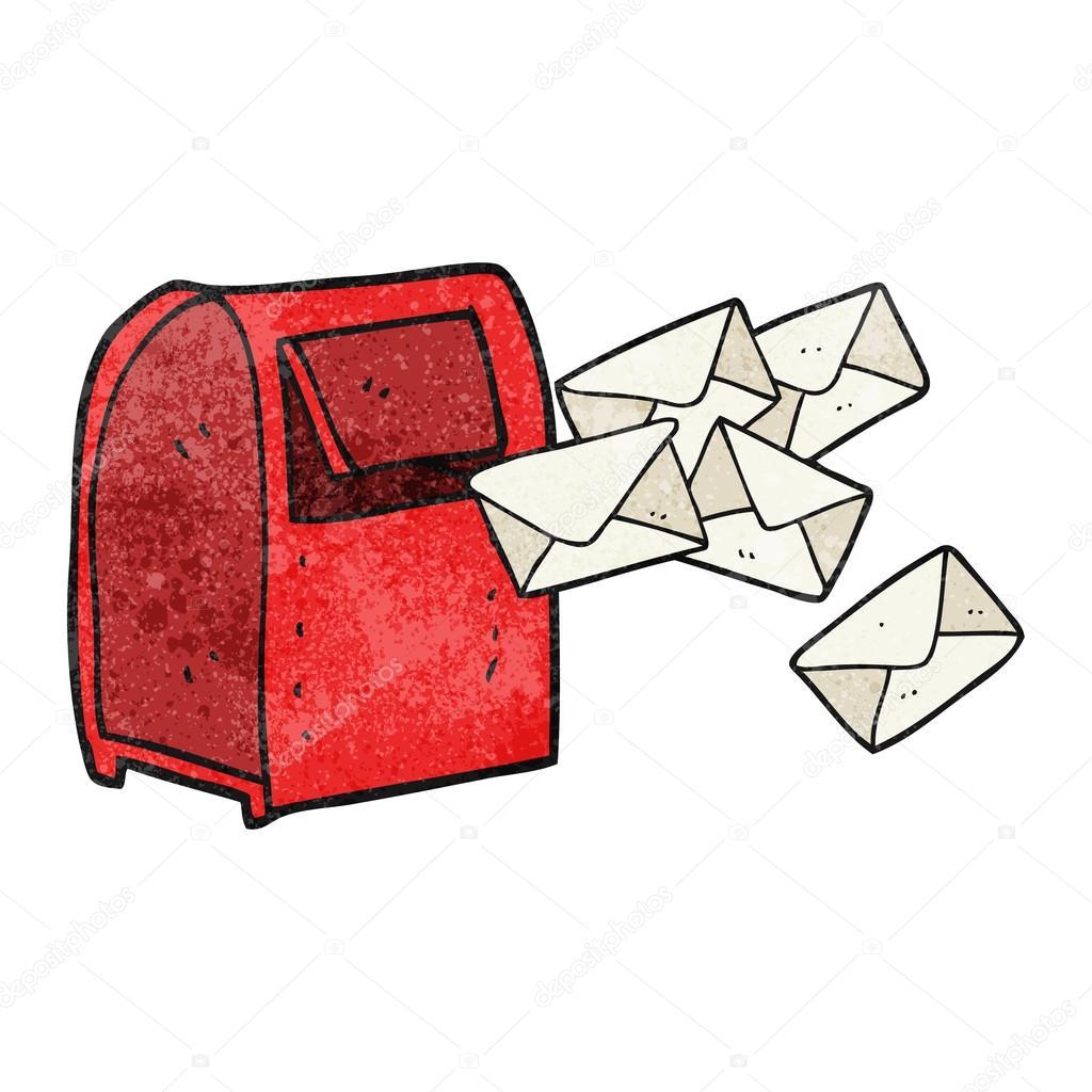 textured cartoon mailbox stock vector lineartestpilot 96882004 rh depositphotos com mailbox cartoon drawing open mailbox cartoon