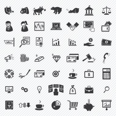 Stock financial icons set. illustration eps10