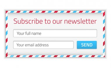 Modern newsletter form with name and email