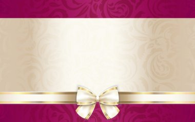 Luxury gift certificate with floral pattern and cream ribbon